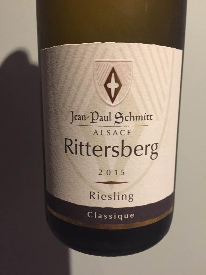 Jean-Paul Schmitt – Riesling Classique 2015 – Rittersberg – Alsace