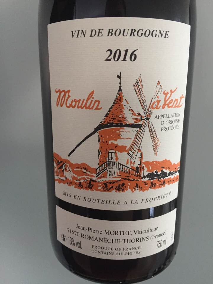 Jean-Pierre Mortet 2016 – Moulin-à-Vent