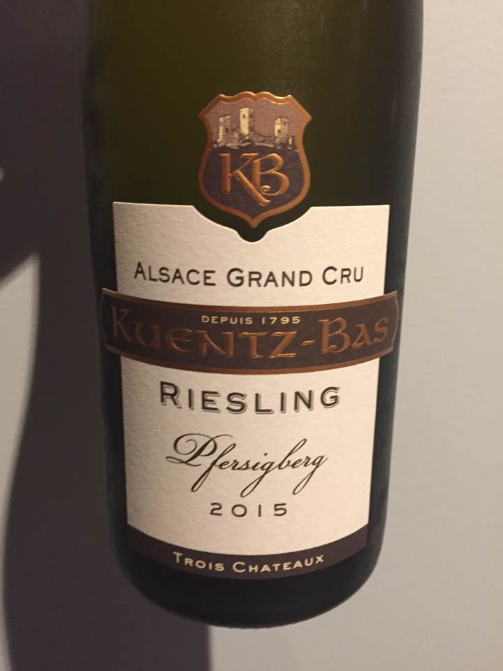 Kuentz-Bas – Trois Châteaux – Riesling 2015 – Pfersigberg – Alsace Grand Cru