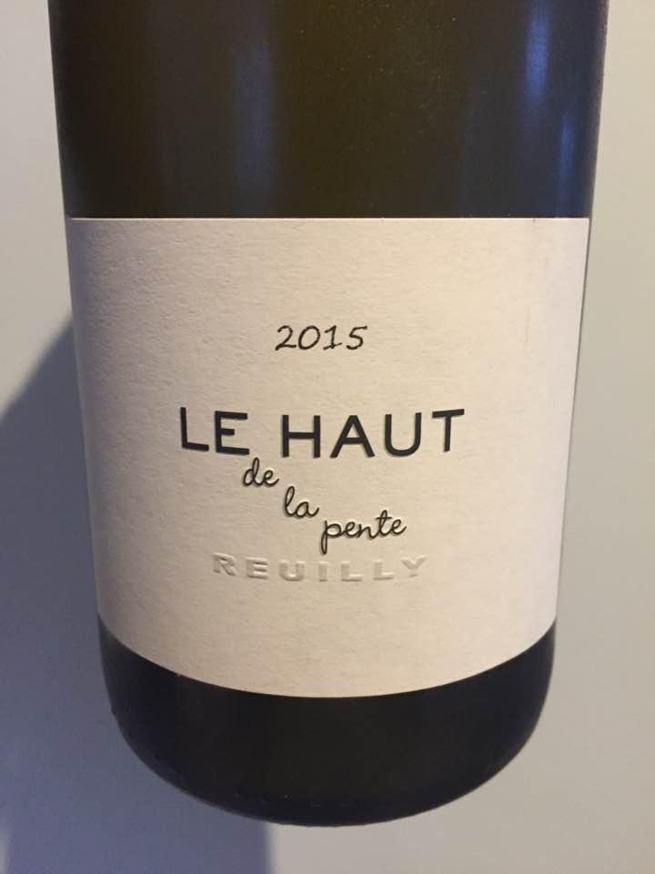 Matthieu & Renaud Mabillot – Le Haut de la pente 2015 – Reuilly