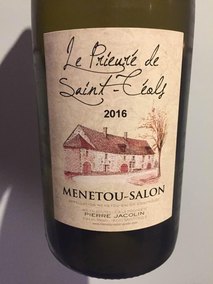 Pierre Jacolin – Le Prieuré de Saint-Céols 2016 – Menetou-Salon