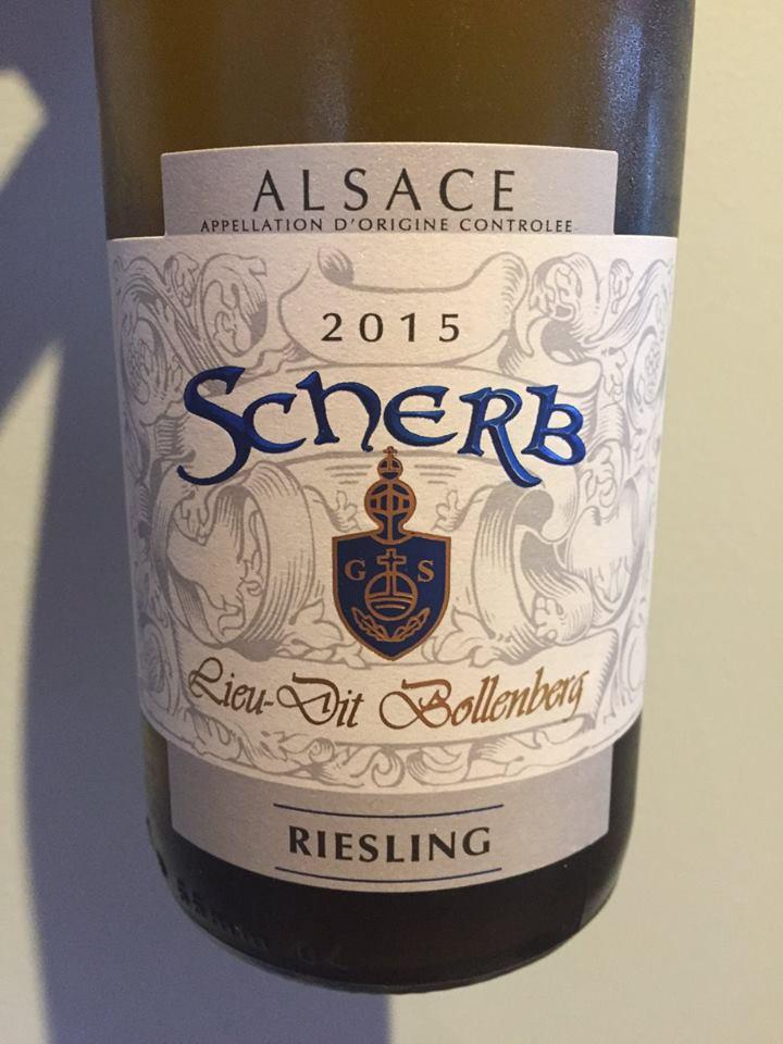 Scherb – Riesling 2015 – Lieu-dit Bollenberg – Alsace