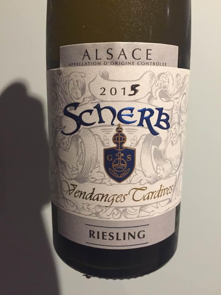 Scherb – Riesling 2015 – Vendanges Tardives – Alsace