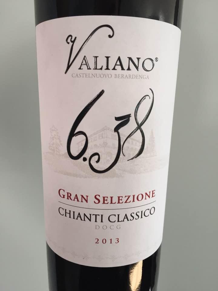 Valiano – 6.38 – 2013 – Chianti Classico Gran Selezione