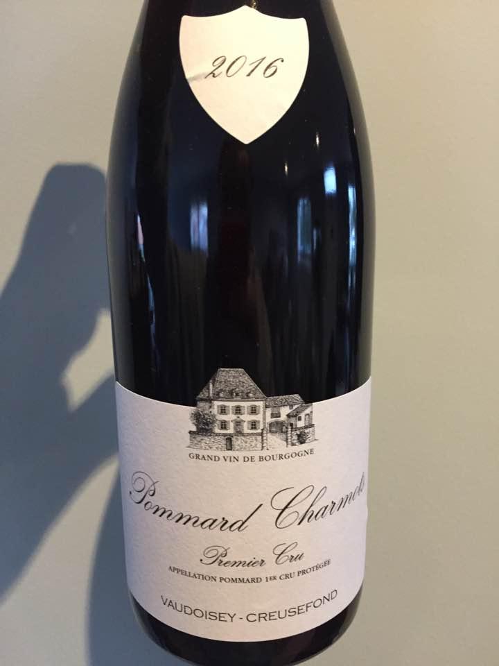 Vaudoisey-Creusefond – Charmots 2016 – Pommard Premier Cru
