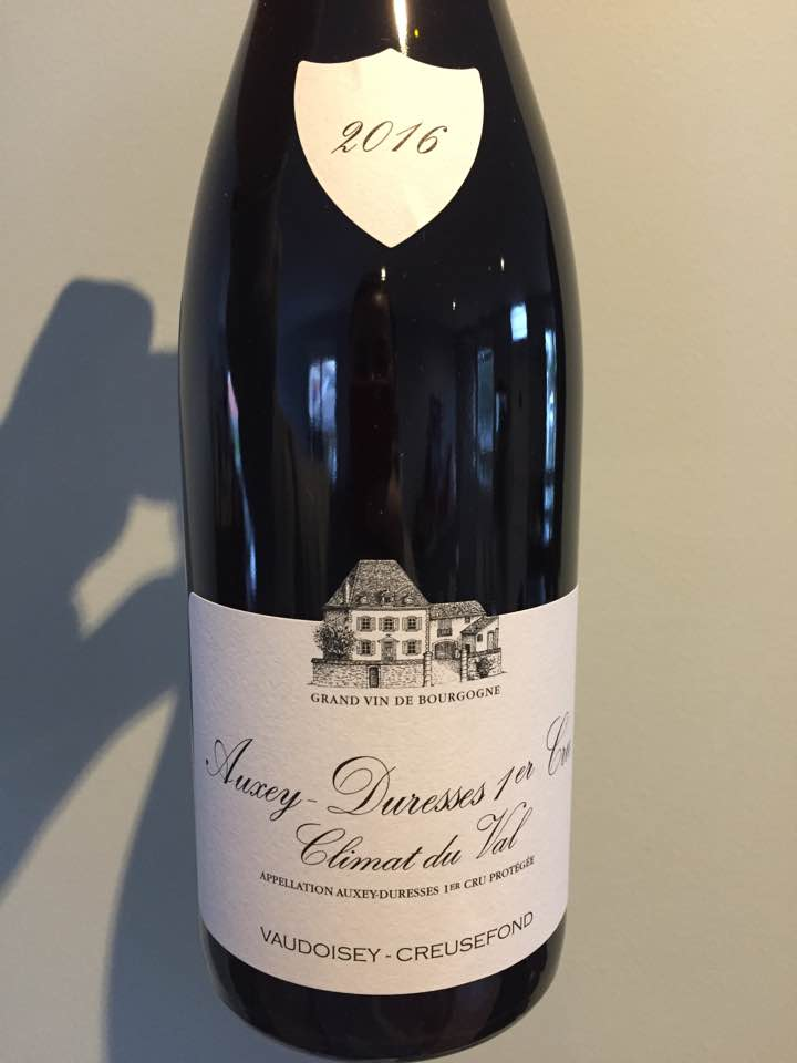 Vaudoisey-Creusefond – Climat du Val 2016 – Auxey-Duresses 1er Cru