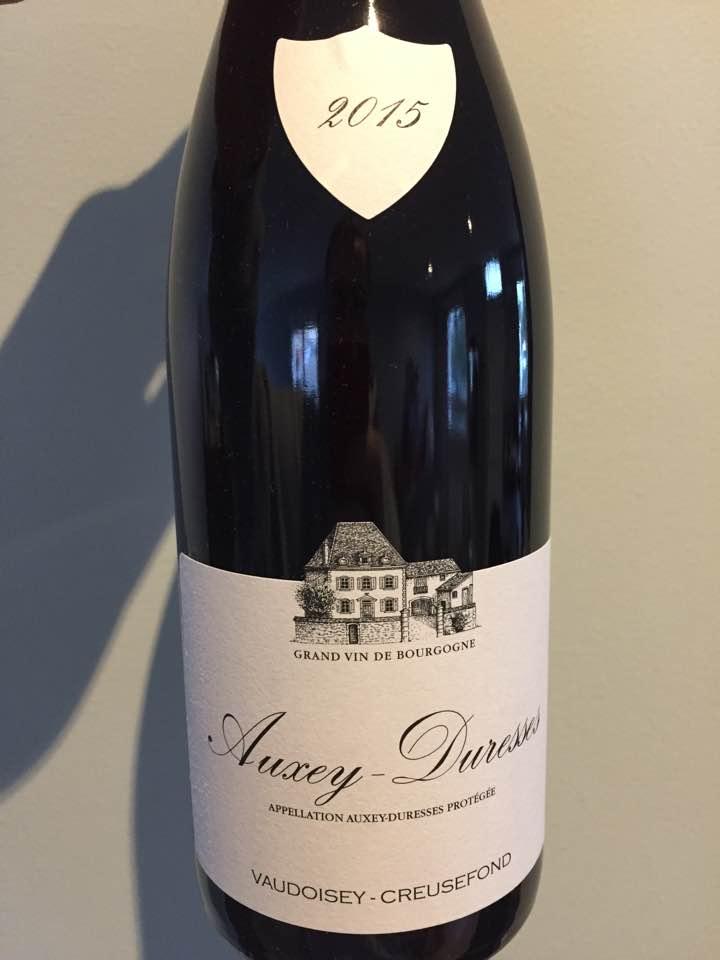 Vaudoisey-Creusefond 2015 – Auxey-Duresses