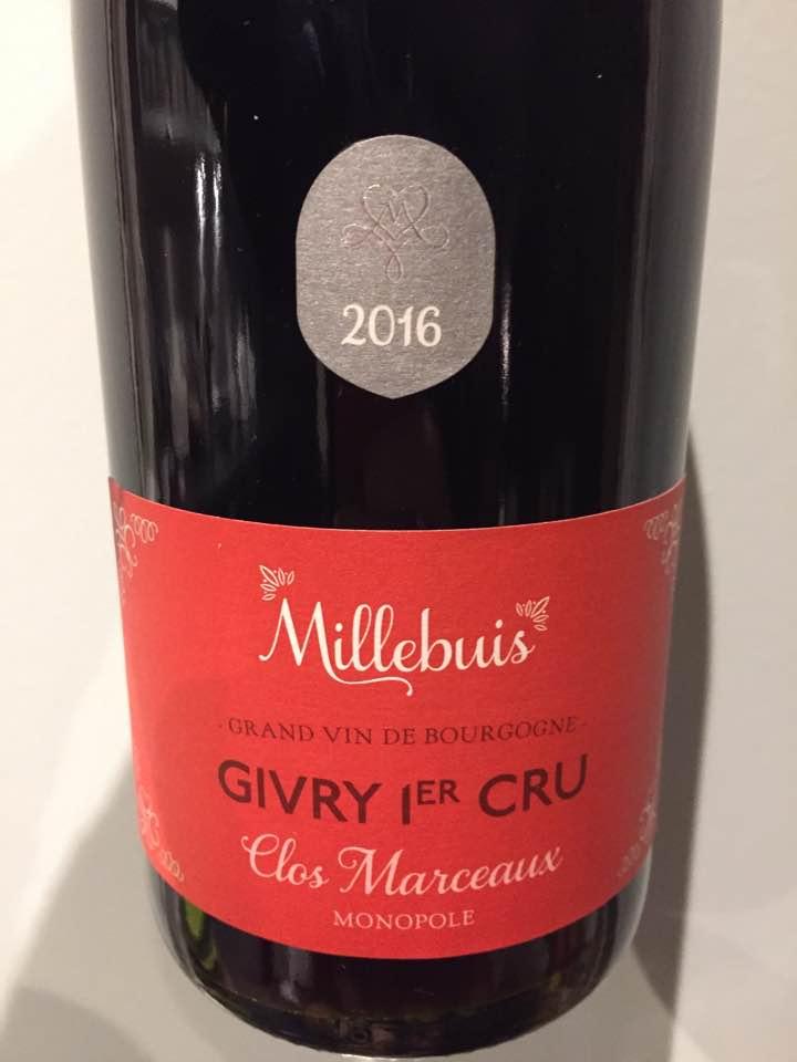 Vignerons de Buxy – Millebuis – Clos des Marceaux 2016 – Givry 1er Cru