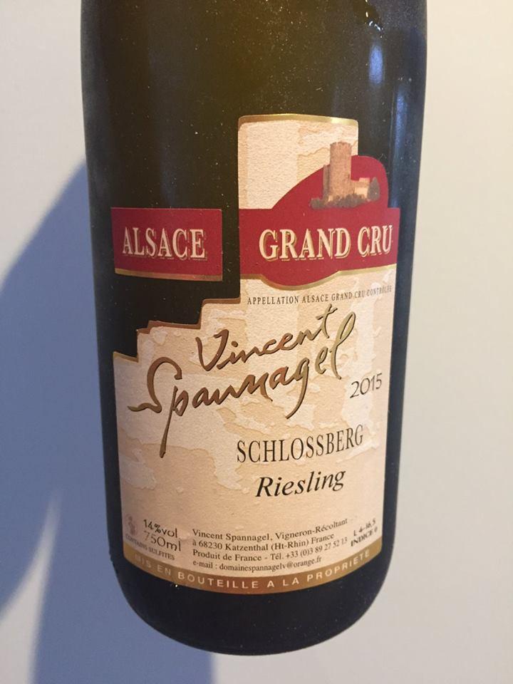 Vincent Spannagel – Riesling 2015 – Schlossberg Grand Cru – Alsace