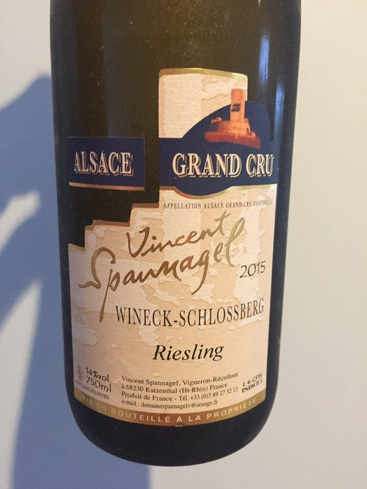 Vincent Spannagel – Riesling 2015 – Wineck-Schlossberg – Alsace Grand Cru