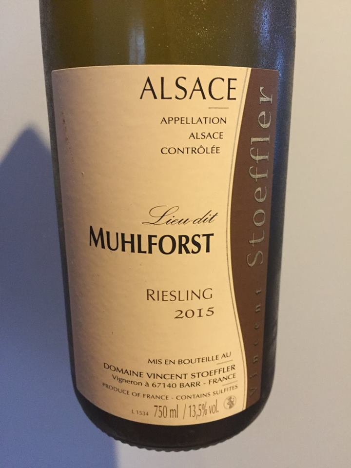 Vincent Stoeffler – Riesling 2015 – Lieu-dit Muhlforst – Alsace