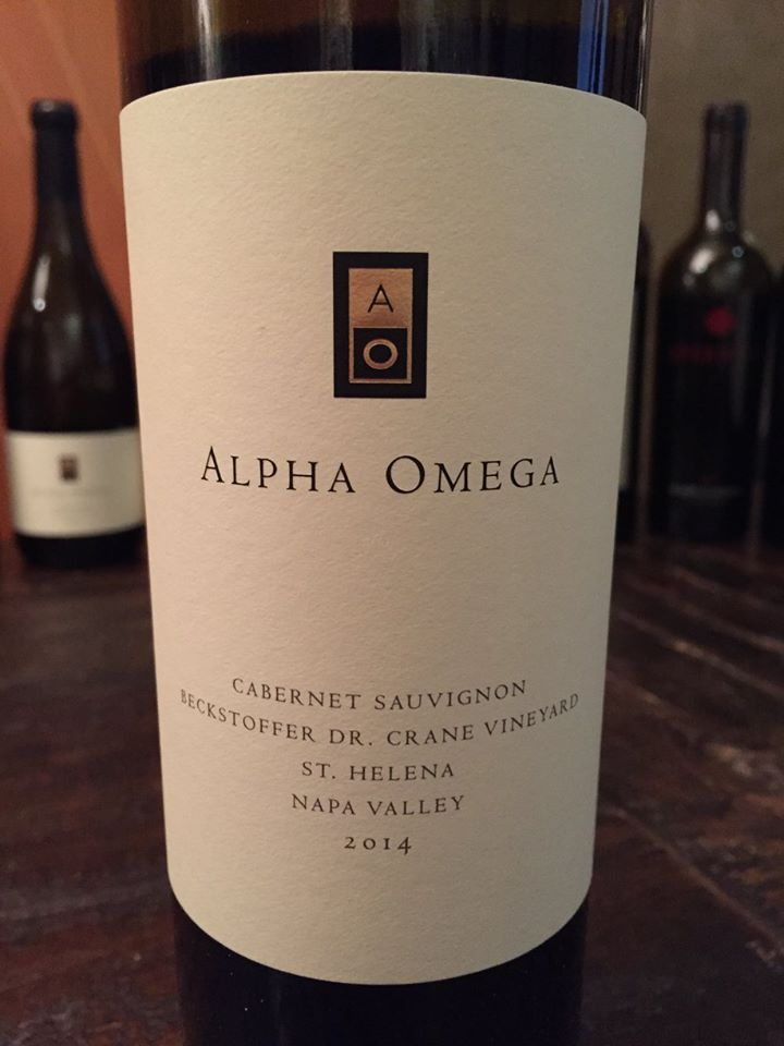Alpha Omega – Cabernet Sauvignon 2014 – Beckstoffer Dr. Crane Vineyard – St. Helena Napa Valley