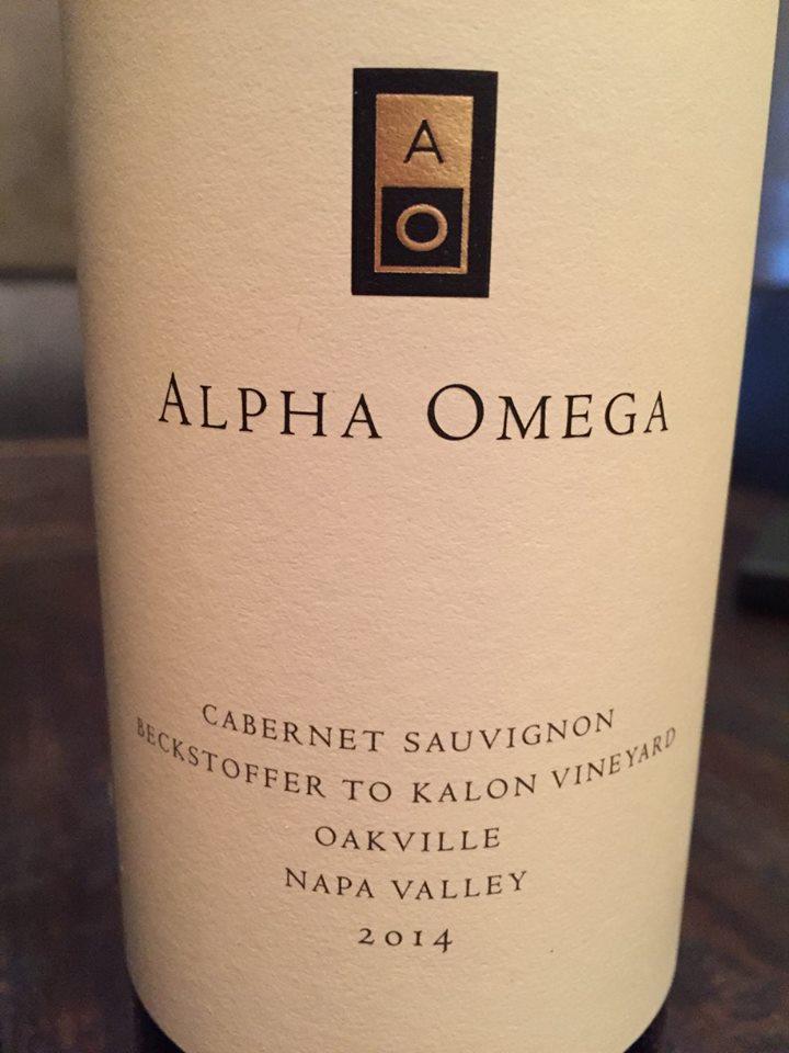 Alpha Omega – Cabernet Sauvignon 2014 – Beckstoffer To Kalon Vineyard – Oakville – Napa Valley
