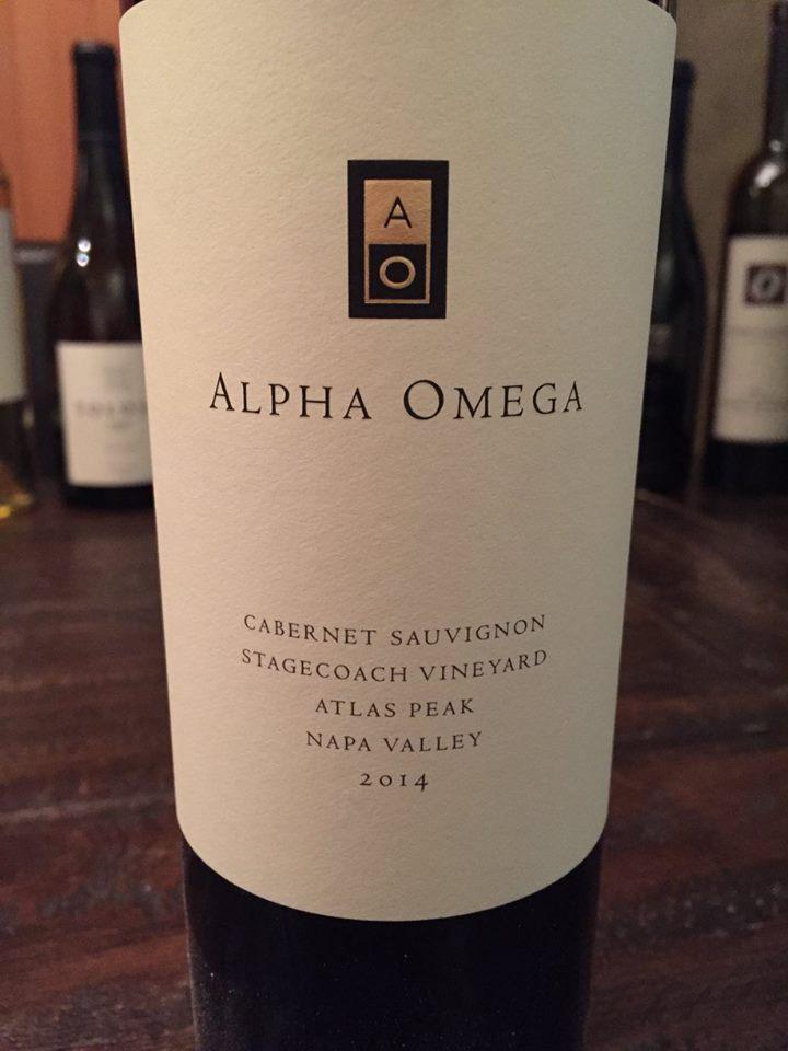 Alpha Omega – Cabernet Sauvignon 2014 – Stagecoach Vineyard – Atlas Peak – Napa Valley