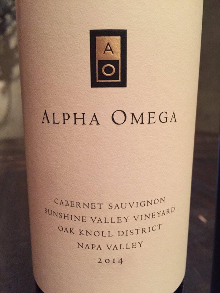Alpha Omega – Cabernet Sauvignon 2014 – Sunshine Valley Vineyard – Oak Knoll District – Napa Valley