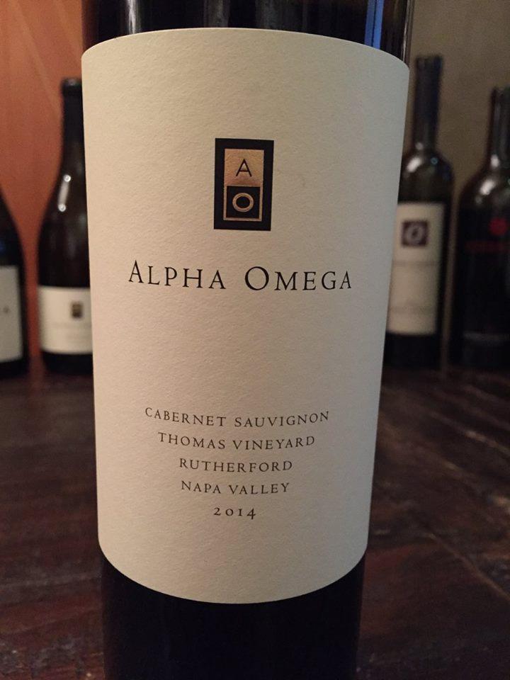 Alpha Omega – Cabernet Sauvignon 2014 – Thomas Vineyard – Rutherford – Napa Valley