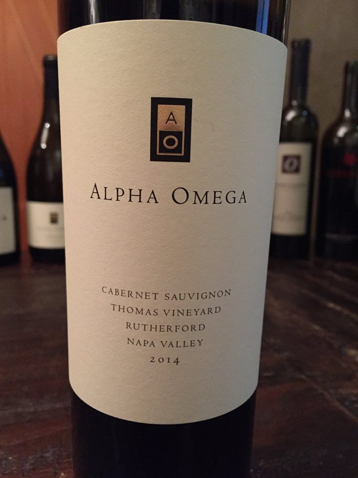 Alpha Omega – Cabernet Sauvignon 2014 – Thomas Vineyard – Rutherford – Napa Valley