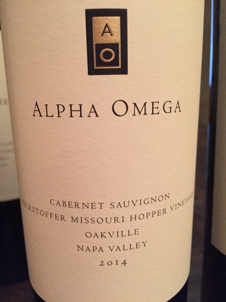 Alpha Omega – Cabernet Sauvignon 2014 – Becktstoffer Missouri Hopper Vineyard – Oakville – Napa Valley