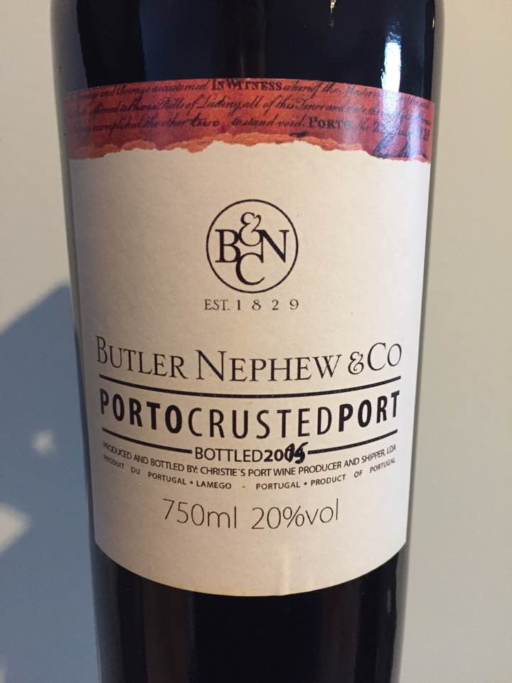 Butler Nephew & Co – Crusted Port 2015 – Porto