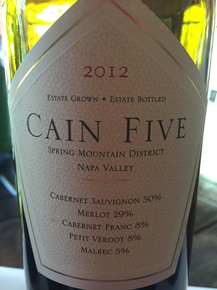 Cain Five 2012 – Napa Valley