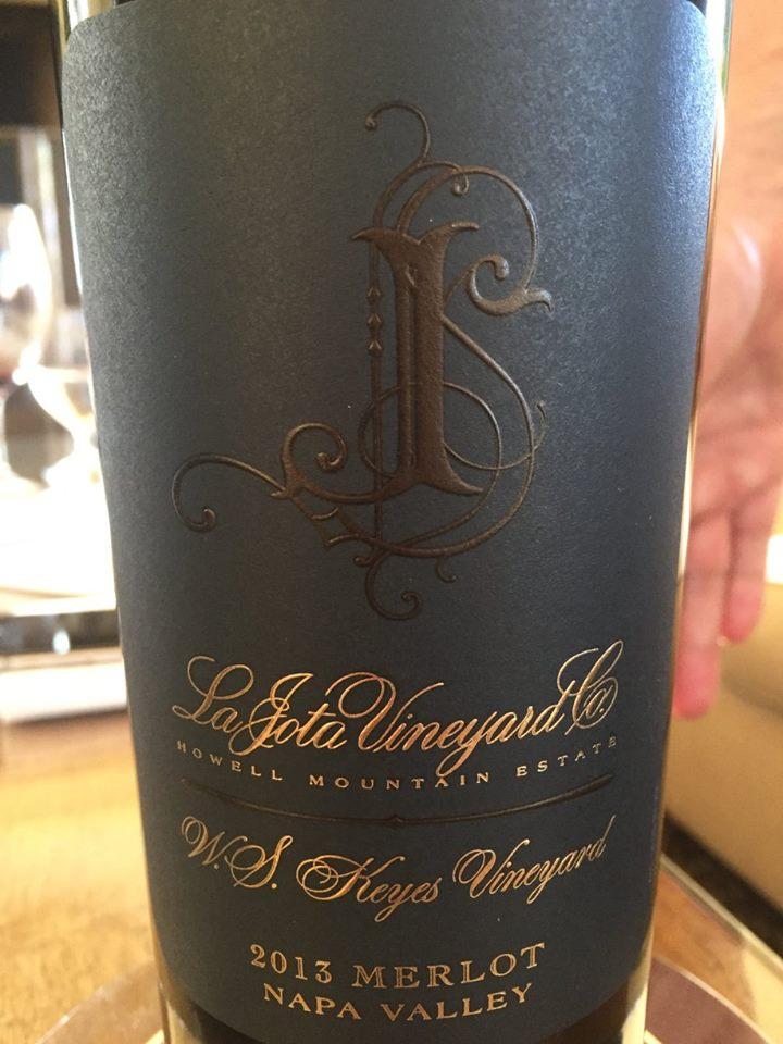 Cardinale – La Jota Vineyard – Howell Mountain Estate – Merlot 2013 – W.S. Keyes Vineyard – Napa Valley