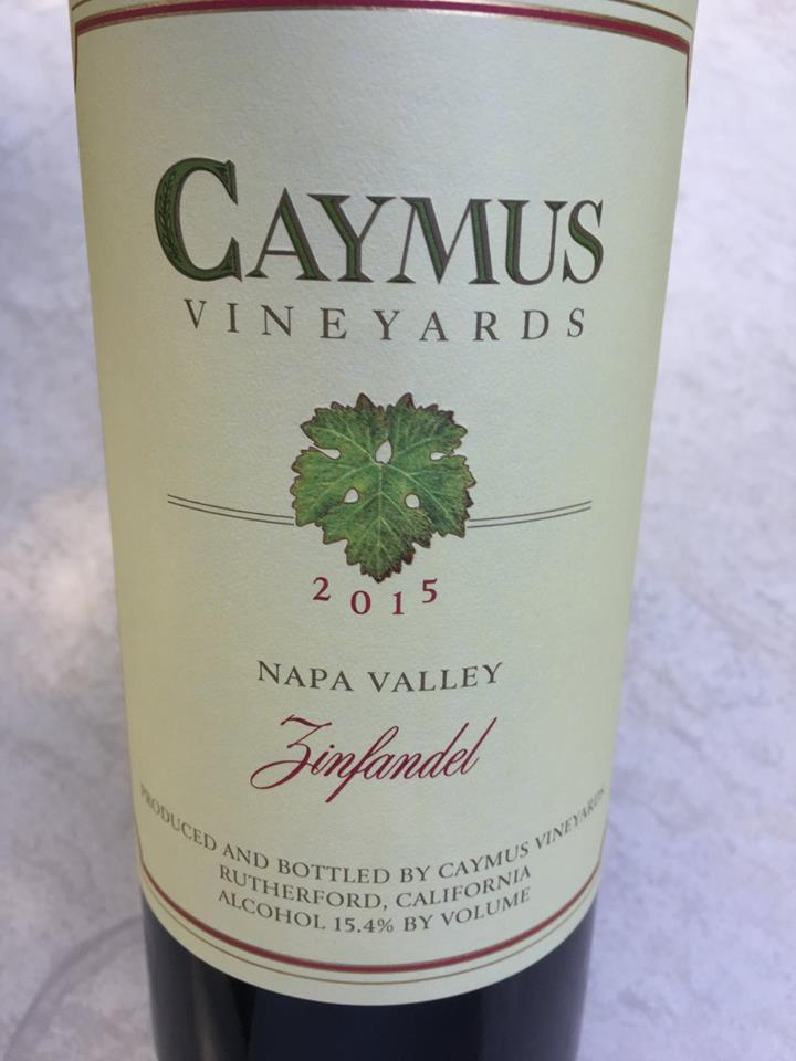 Caymus vineyards – Zinfandel 2015 – Napa Valley