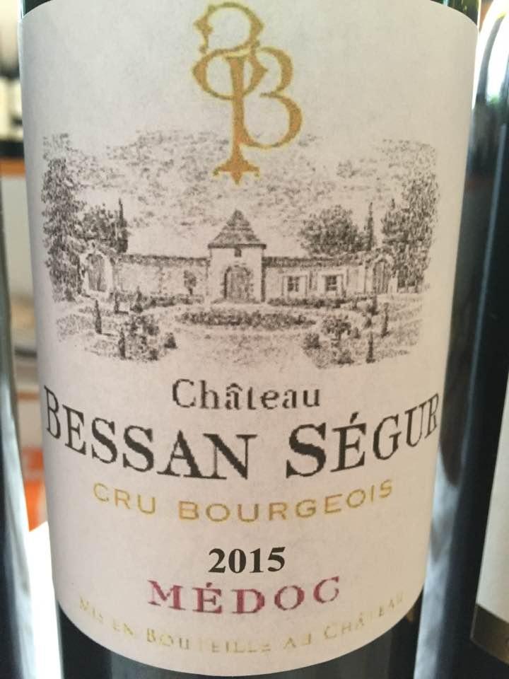 Château Bessan Segur 2015 – Médoc– Cru Bourgeois
