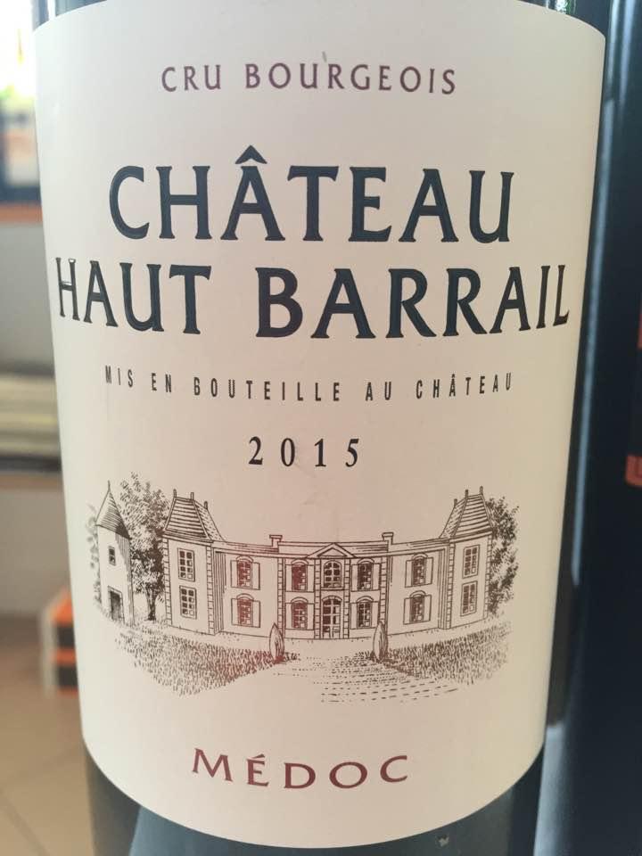 Château Haut Barrail2015 – Médoc – Cru Bourgeois