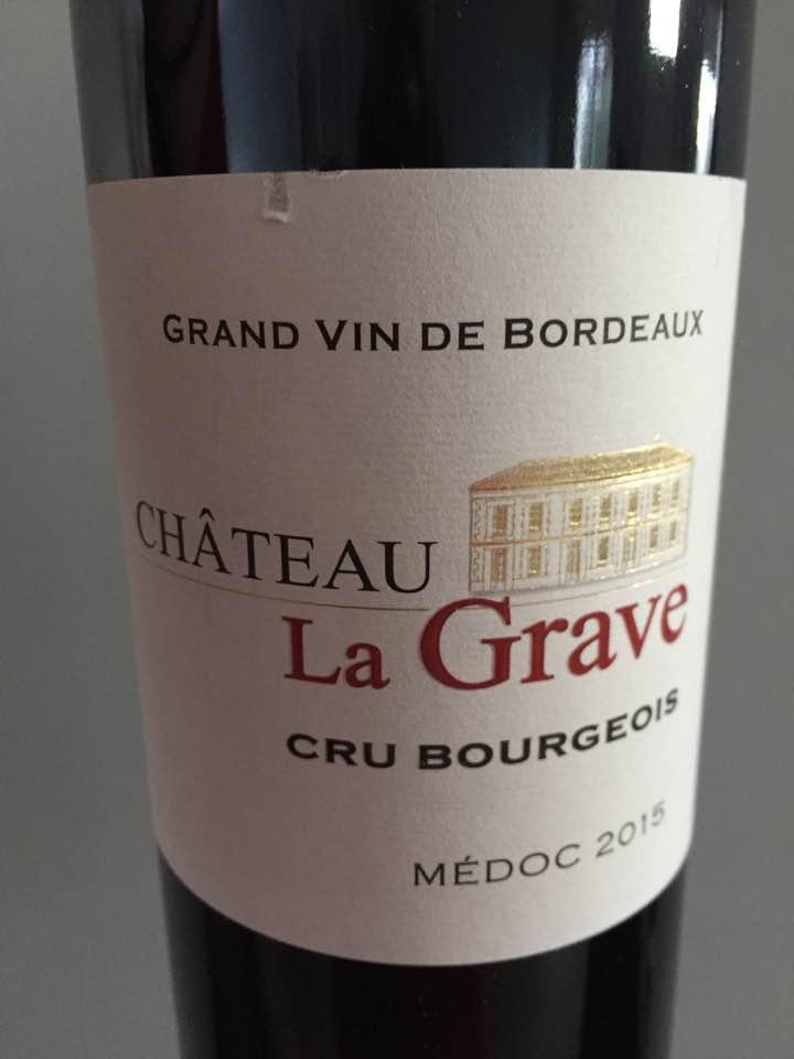 Château La Grave 2015 – Médoc – Cru Bourgeois