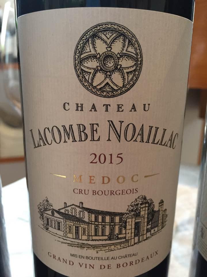 Château Lacombe Noaillac 2015– Médoc – Cru Bourgeois