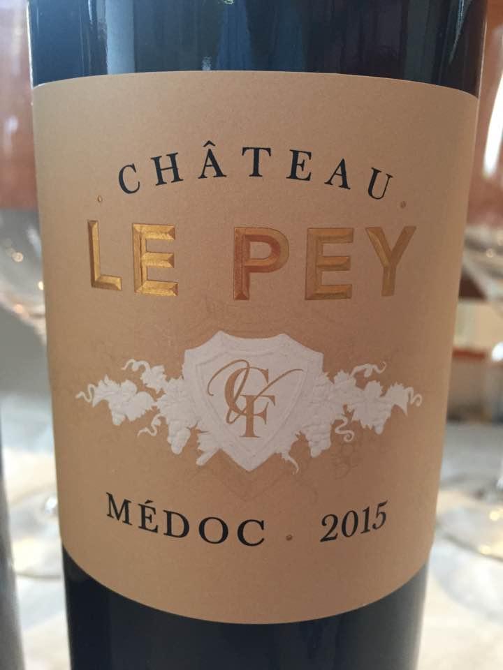 Château Le Pey 2015 – Médoc– Cru Bourgeois
