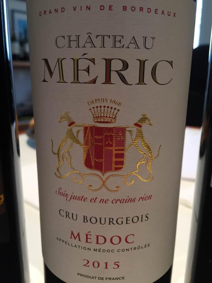 Château Méric2015 – Médoc – Cru Bourgeois