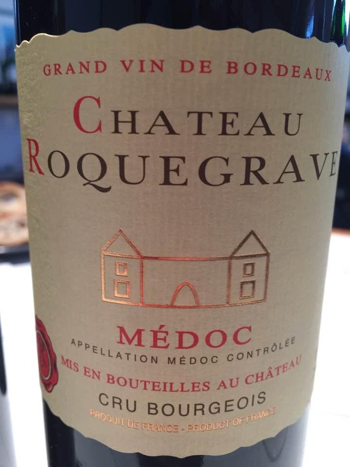 Château Roquegrave 2015 – Médoc – Cru Bourgeois