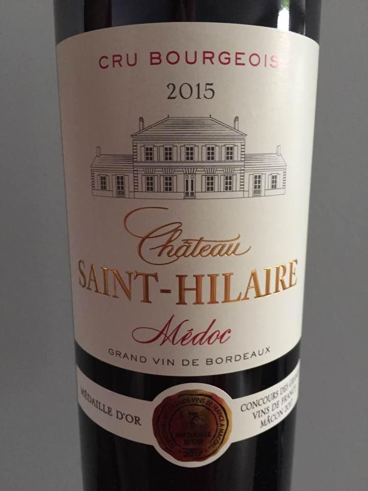 Château Saint-Hilaire 2015 – Médoc – Cru Bourgeois