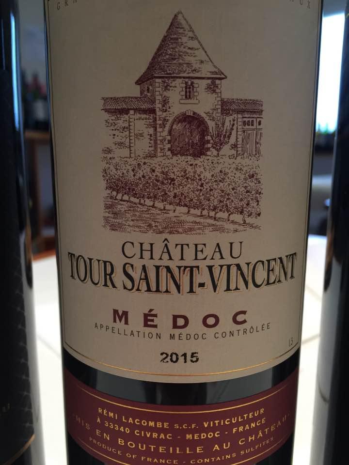 Château Tour Saint-Vincent 2015 – Médoc – Cru Bourgeois