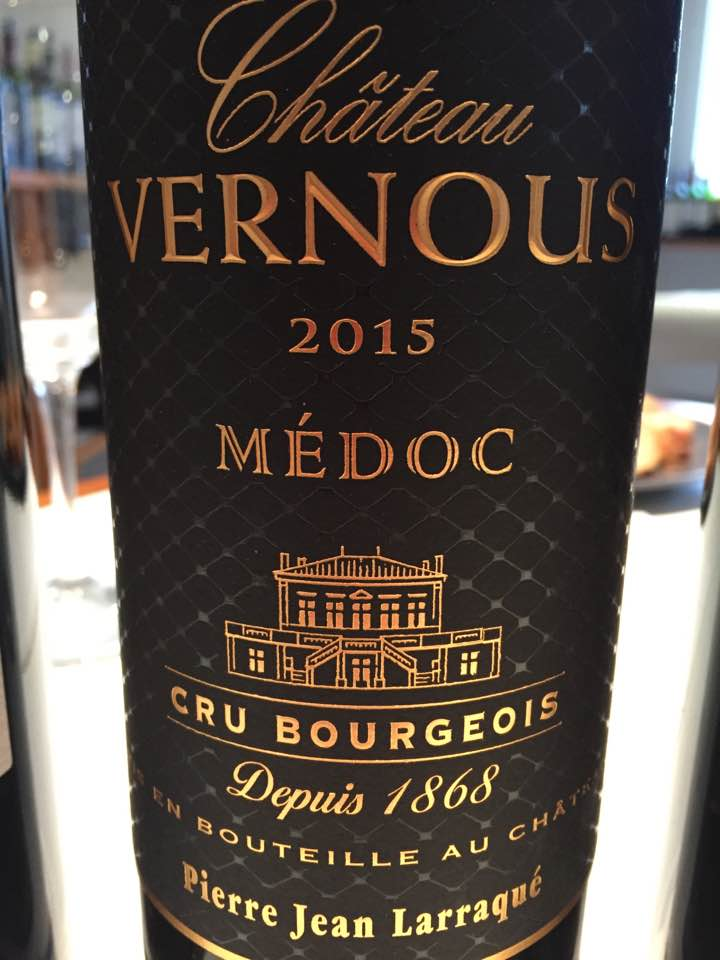 Château Vernous 2015 – Médoc– Cru Bourgeois