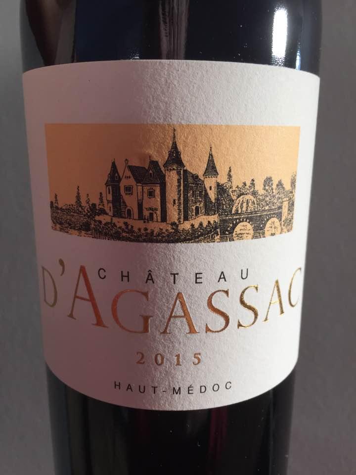 Château d'Agassac 2015 – Haut-Médoc – Cru Bourgeois