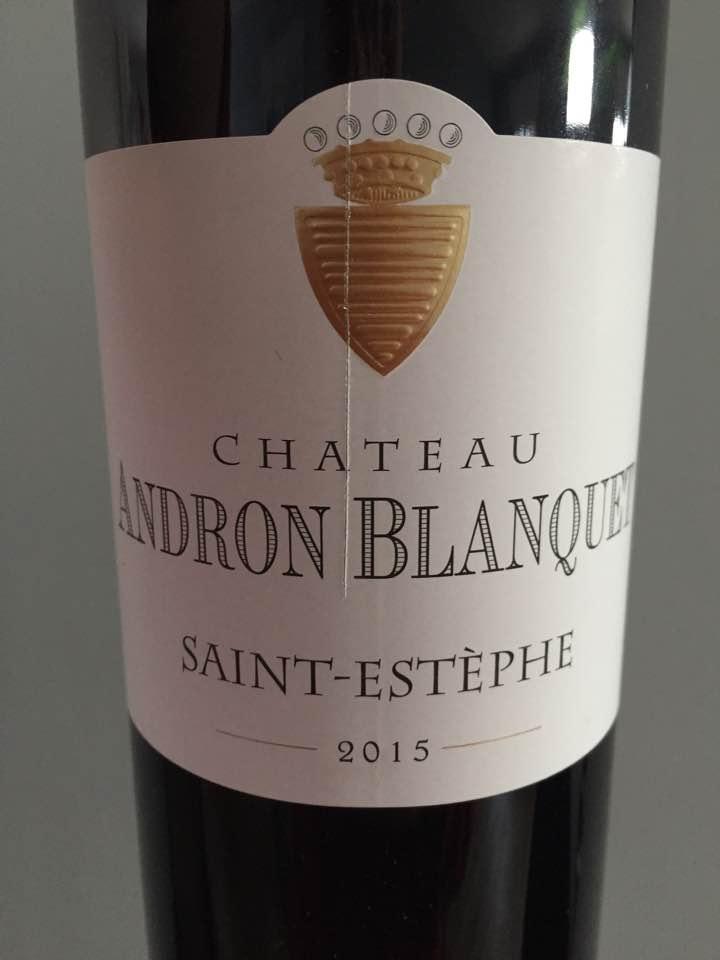 Château Andron Blanquet 2015 – Saint-Estèphe
