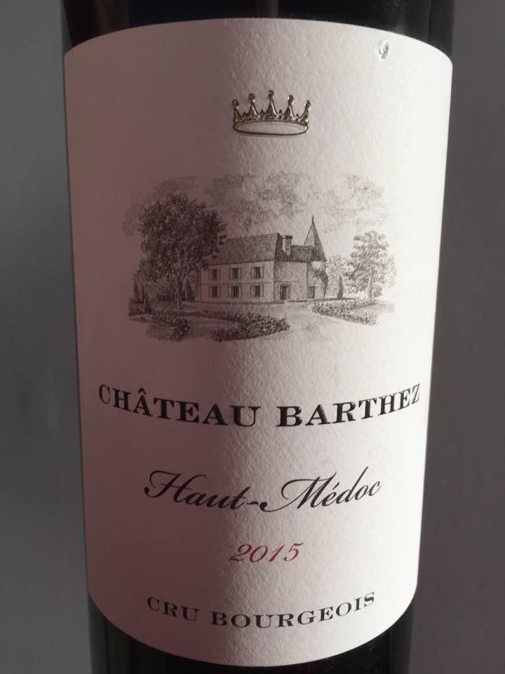 Château Barthez 2015 – Haut-Médoc – Cru Bourgeois