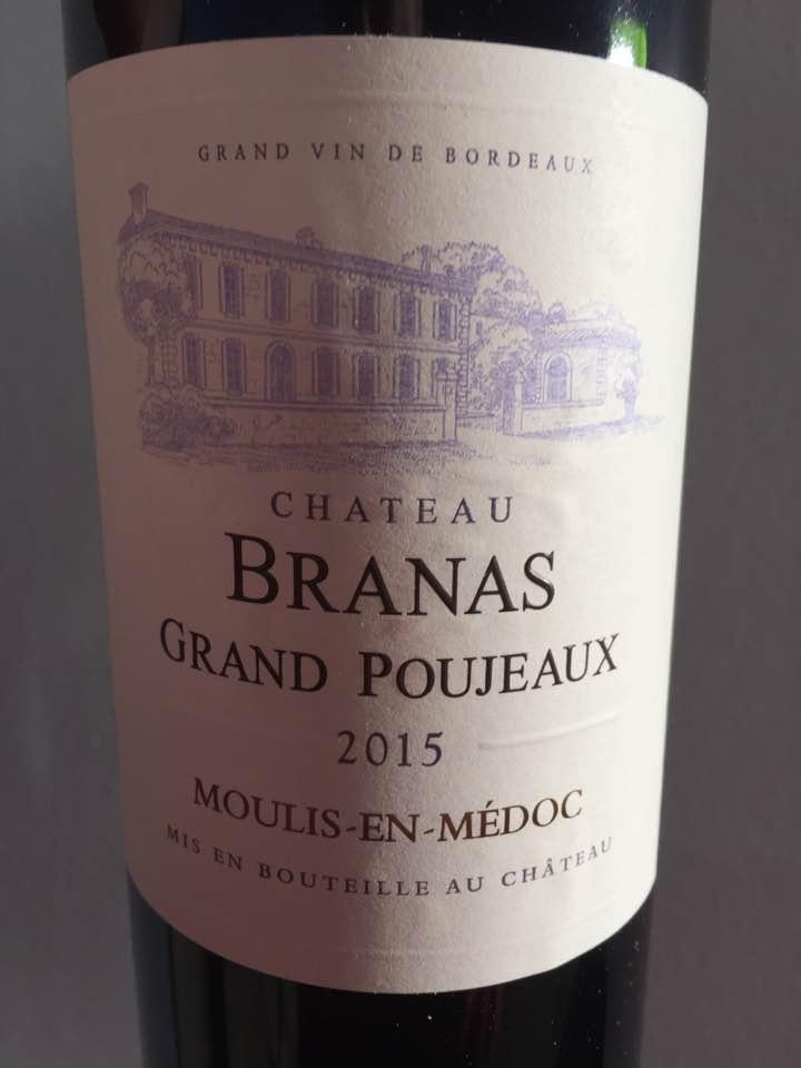 Château Branas Grand Poujeaux 2015 – Moulis-En-médoc – Cru Bourgeois