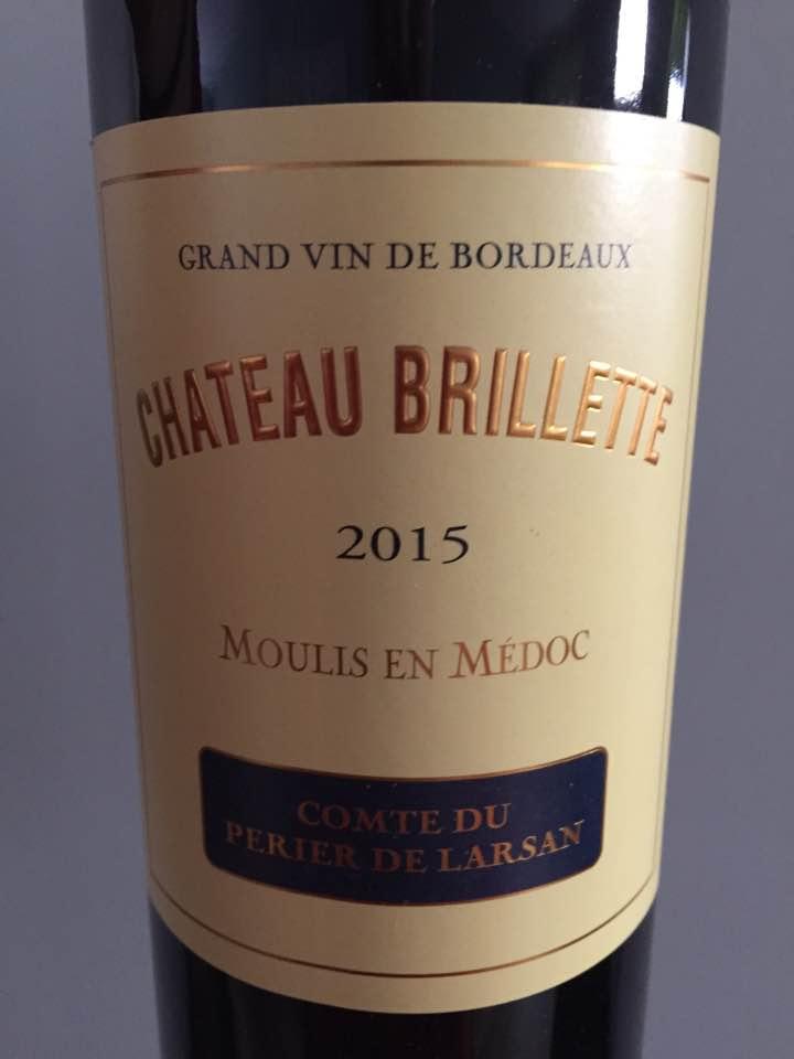Château Brillette 2015 – Moulis-en-Médoc – Cru Bourgeois