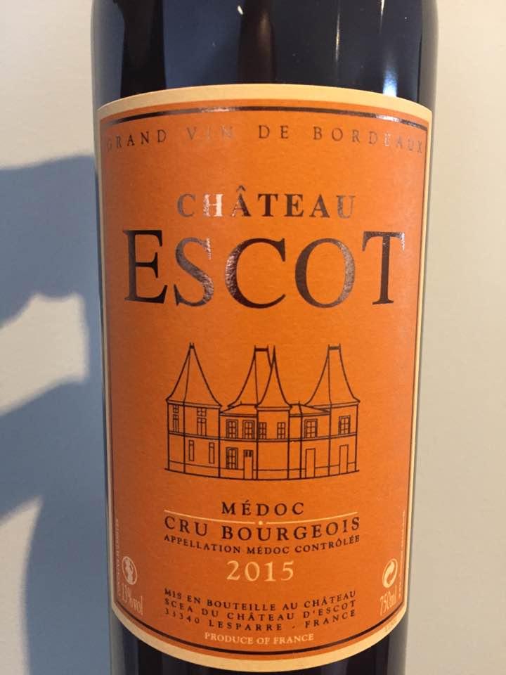 Château Escot 2015 – Médoc – Cru Bourgeois