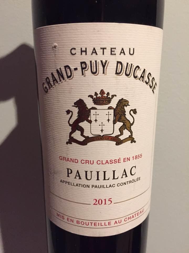 Château Grand-Puy Ducasse 2015 – Pauillac, 5ème Cru Classé