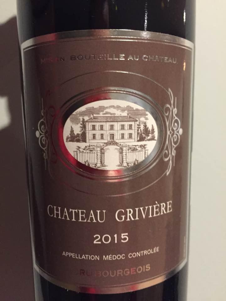 Château Grivière 2015 – Médoc – Cru Bourgeois