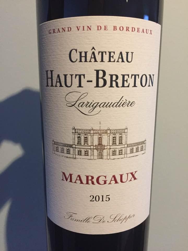 Château Haut-Breton Larigaudière 2015 – Margaux – Cru Bourgeois