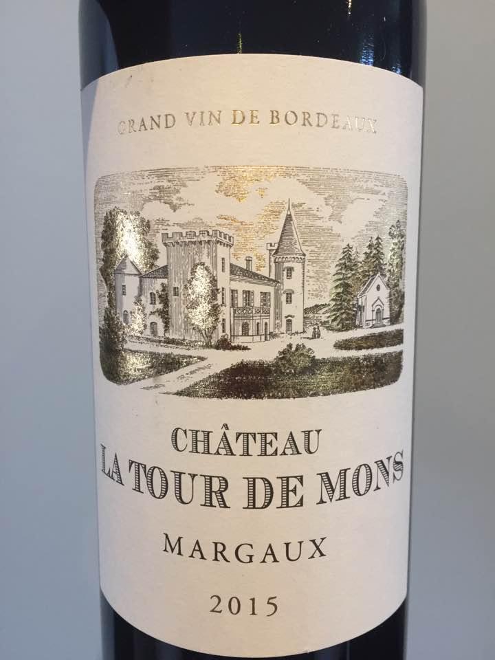 Château La Tour de Mons 2015 – Margaux – Cru Bourgeois