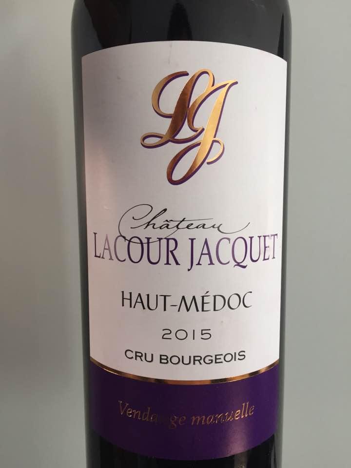 Château Lacour Jacquet 2015 – Haut-Médoc – Cru Bourgeois