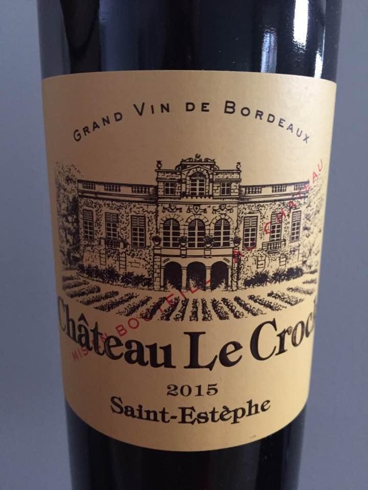 Château Le Crock 2015 – Saint-Estèphe – Cru Bourgeois