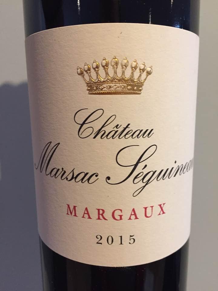 Château Marsac Séguineau 2015 – Margaux