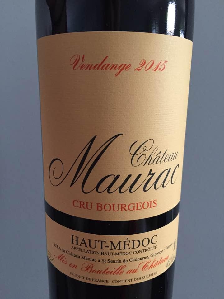 Château Maurac 2015 – Haut-Médoc – Cru Bourgeois